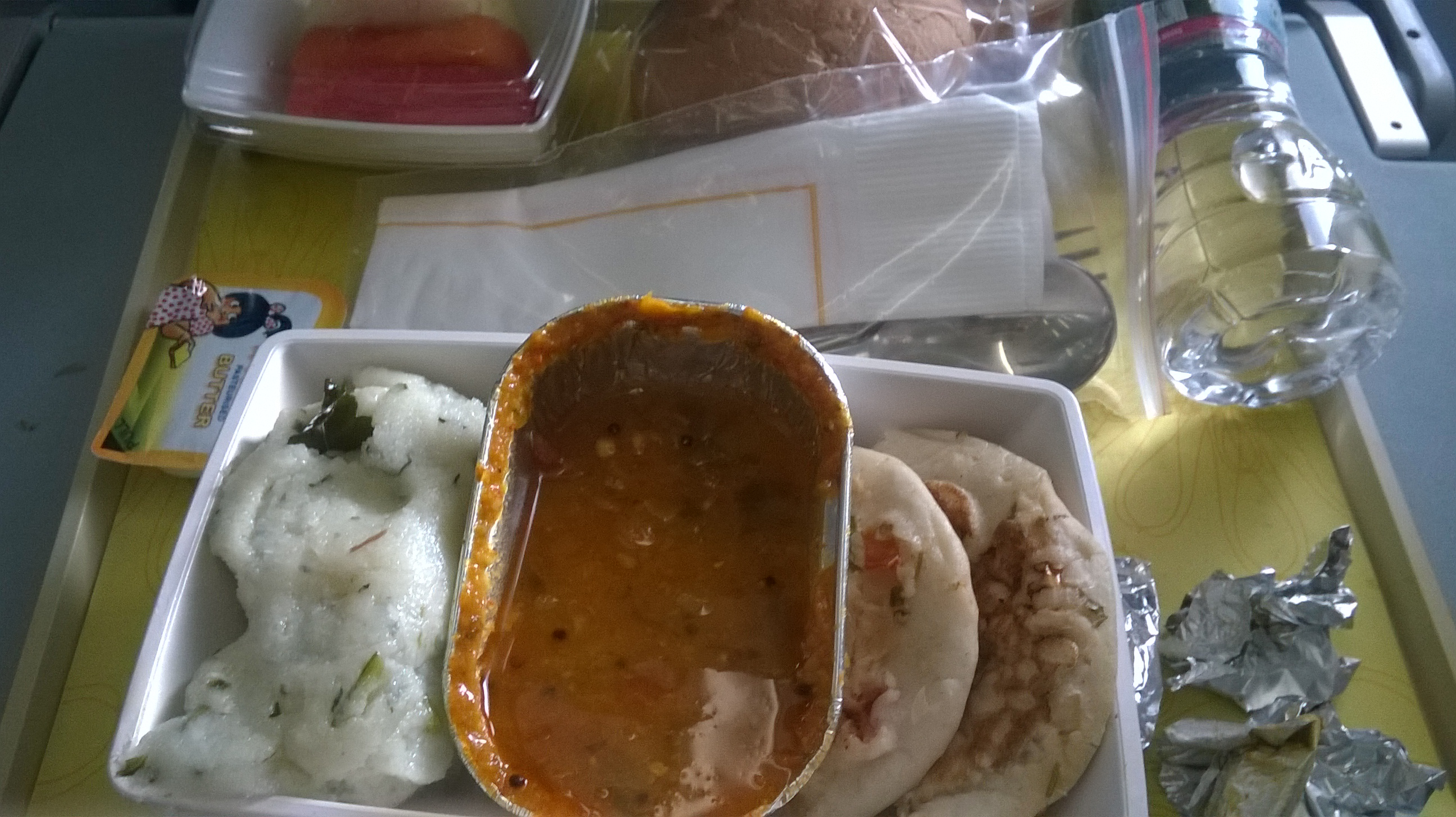 Meal on board by Jet Airways :)