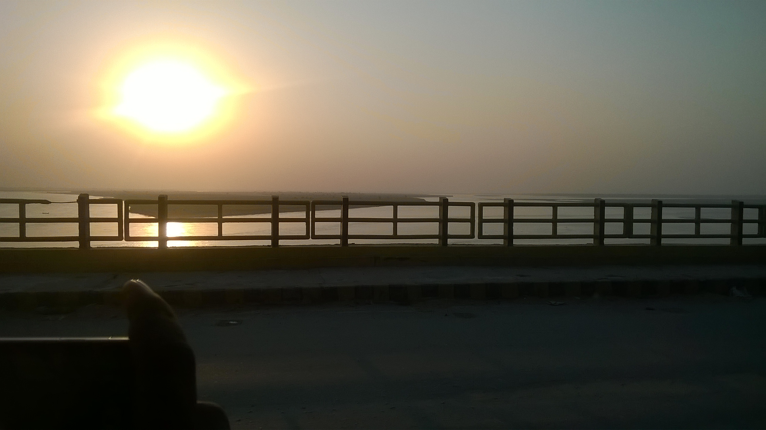 View of sunset from Gandhi Setu